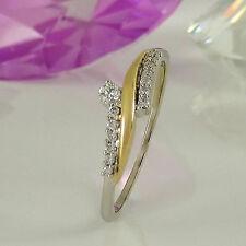 Ringe im Cluster-Stil aus mehrfarbigem Gold mit VS Reinheit