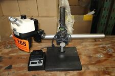 BAUSCH & LOMB STEREO ZOOM 7 MICROSCOPE + ILLUMINATOR LIGHT & WEIGHTED BOOM STAND