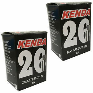 2 x Kenda Mountain Bike Inner Tubes 26 x 1.5/1.75/2.125 Schrader