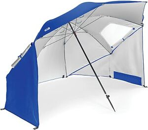 Sport-Brella All-Weather 8-Foot Umbrella Canopy Shelter Outdoor Protection Blue