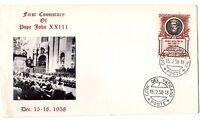 1958 Vatican First Consistory of Pope John XXIII FDC