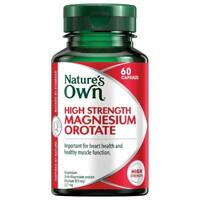 NATURE'S OWN HIGH STRENGTH MAGNESIUM OROTATE 60 CAPSULES HEART HEALTH MUSCLE