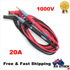 1000V 20A Digital Multimeter Multi Meter Test Lead Cable Probe Needle Wire 1Pair