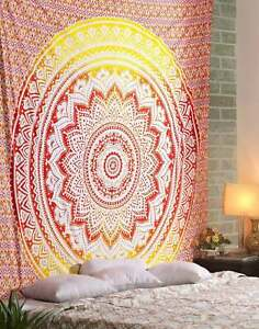 Mandala Tapestry Multicolored Printed Wall Hanging Decor Boho QueenSize Tapestry