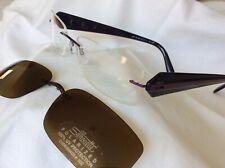 Silhouette M 6697  Titanium & plastic rimless Glasses with Polarized sunclip