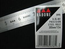 RABONE 12'' / 300mm  64R Stainless Steel Metric & Imperial Precision Rule