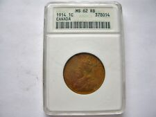 1914 Canada Large One Cent - ANACS MS 62 RB