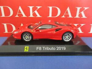 Die cast 1/43 Modellino Auto Ferrari F8 Tributo 2019