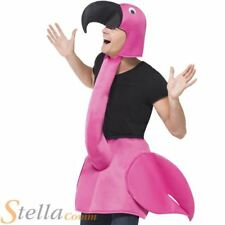 Adult Flamingo Fancy Dress Costume Bird Men Ladies Animal Unisex Stag Do Outfit