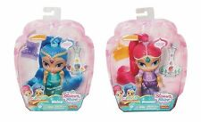 Fisher Price Shimmer and Shine Dolls with Genie Gem Stickers Set of 2