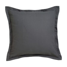Ascot Granite Black European Pillowcase - Platinum Logan and Mason