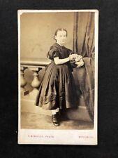 Victorian Carte De Visite CDV Child Davis Woolwich Flower Basket