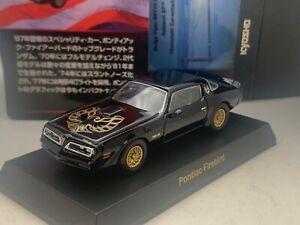 Pontiac Firebird TRANS-AM slant nose black  Kyosho 1/64 Die-cast