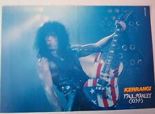 KISS Paul with Stars & Stripes guitar Centerfold magazine POSTER  17x11""