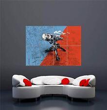 TEAM FORTEZZA 2 Rosso Blu TORRETTA GIOCO NUOVO GIGANTE WALL ART PRINT POSTER oz644