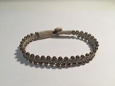 New - Pulsera SAAMI CRAFTS Piel BEIGE & Plata - BEIGE Leather & Silver Bracelet