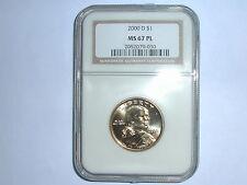 2000-D $1 Sacagawea NGC MS 67 PL