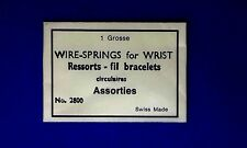 1 Grosse Wire -Springs For Wrist Ressorts-Fil Bracelets Watch Parts Swiss Made
