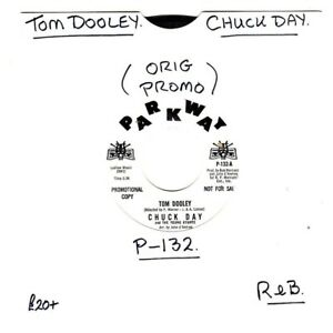 """CHUCK DAY.TOM DOOLEY / WE GOTTA GET OUT OF THIS PLACE.U.S.ORIG SOUL/R&B 7"""" PROMO"""