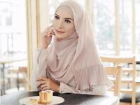 Fashion Women Shawl Wrap Chiffon Muslim Full Cap Hijab Islamic Long  Scarf