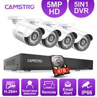 CAMSTRO HD 5MP Security Camera 4CH DVR Outdoor Surveillance System CCTV Video US