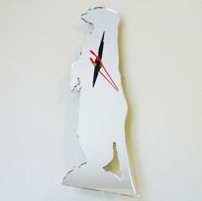 Meerkat Clock - Acrylic Mirror (Several Sizes Available)