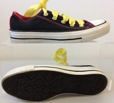 Womens Converse All Star Pumps UK 4 Black & Neon Pink Double Tongue T382