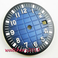 31.5mm Watch blue Dial fit 2836 2824 2813 3804 Miyota 82 Series movement