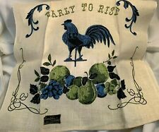 New listing Vintage Pure Linen Rooster Kitchen Towel by Stricklands w/Kay Dee Label Nos