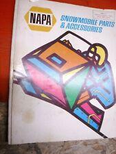 1971 Napa Snowmobile Parts & Accessories Catalog Smc-71