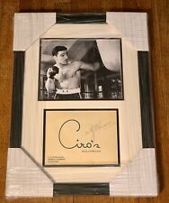 Stunning Rocky Marciano SIGNED Boxing Photo PSA LOA Huge Autograph Framed 16x22