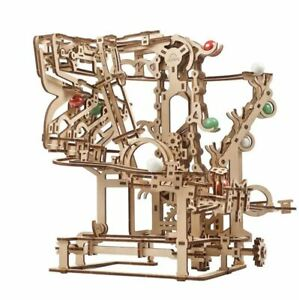 UGEARS Mechanical 3D Puzzle Wooden MARBLE RUN CHAIN HOIST Model self-assembly