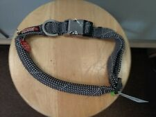 "NEW!! KONG Rope Collar REFLECTIVE (XLarge GREY 24""-30"")"