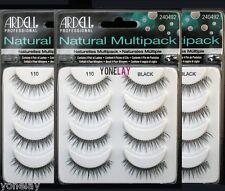 12 Pairs ARDELL #110 Natural Multipack False Eyelashes Fake Eye Lashes