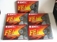 5 X K7 AUDIO VIERGES EMTEC FE 1 90 FERRO EXTRA POSITION NORMAL (NEUVES SCELLEES)