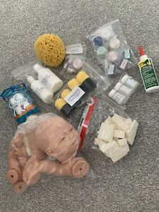FULL SOFT BODY SILICONE REBORN DOLL KIT WITH PAINT SPONGES GLUE SOOTHERS
