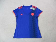NEW Adidas Colombia Soccer Jersey Womens Large Blue Orange Futbol Football