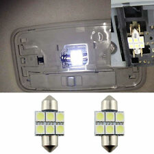 "2 White 6-SMD LED Bulbs For Car Interior Dome Lights, 1.25"" 31mm DE3175 DE3022"