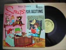 Disneyland Records SONGS FOR BEDTIME LP 1964