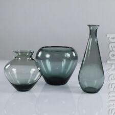 WMF jarrones de cristal carro Wilhelm campo 3er colección 50er años turmalina vintage & Alt