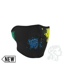 Glow in Dark Paint Ball Splat Neoprene Face Mask Motorcycle Biker Free Shipping