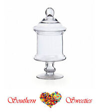 Apothecary Candy Buffet Jar w Lid 15Dx30cmH Quality Glass Lolly Jars lollies