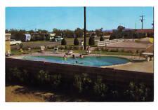Arizona postcard Mesa, Ambassador Downs camping swimming pool