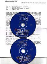 """Rolling stones """"Media America up close"""" rare radio show promo CD"""