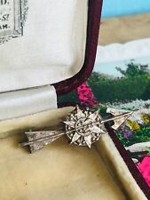 Vintage Art Deco Period Silver Brooch with Arrow Through Star Stamped to Reverse