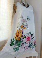 Made In Italy Ivory Summer dress Lagenlook chiffon layered floaty sleeveless OS