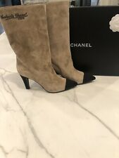 Chanel Coco Gabrielle Suede Boots NIB! $1,550 Size 42!
