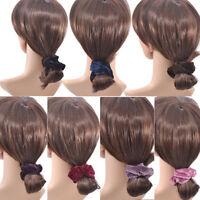 4 Pcs Women Elastic Hair Scrunchie Ponytail Holder Scrunchy Velvet Hair Bands