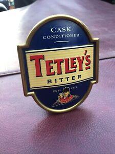 Tetleys Cask Conditioned Bitter Metal Beer Pump Clip
