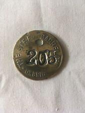 More details for vintage solid brass barrel tag - steel barrel company